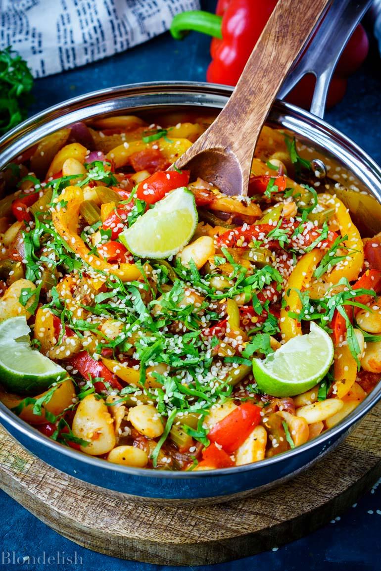 15 minutes sesame beans casserole