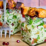 Chicken skewers with tabbouleh salad, Recipes, Travel, Lifestyle by Blondelish