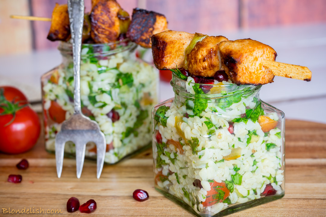 Chicken skewers with tabbouleh salad-4