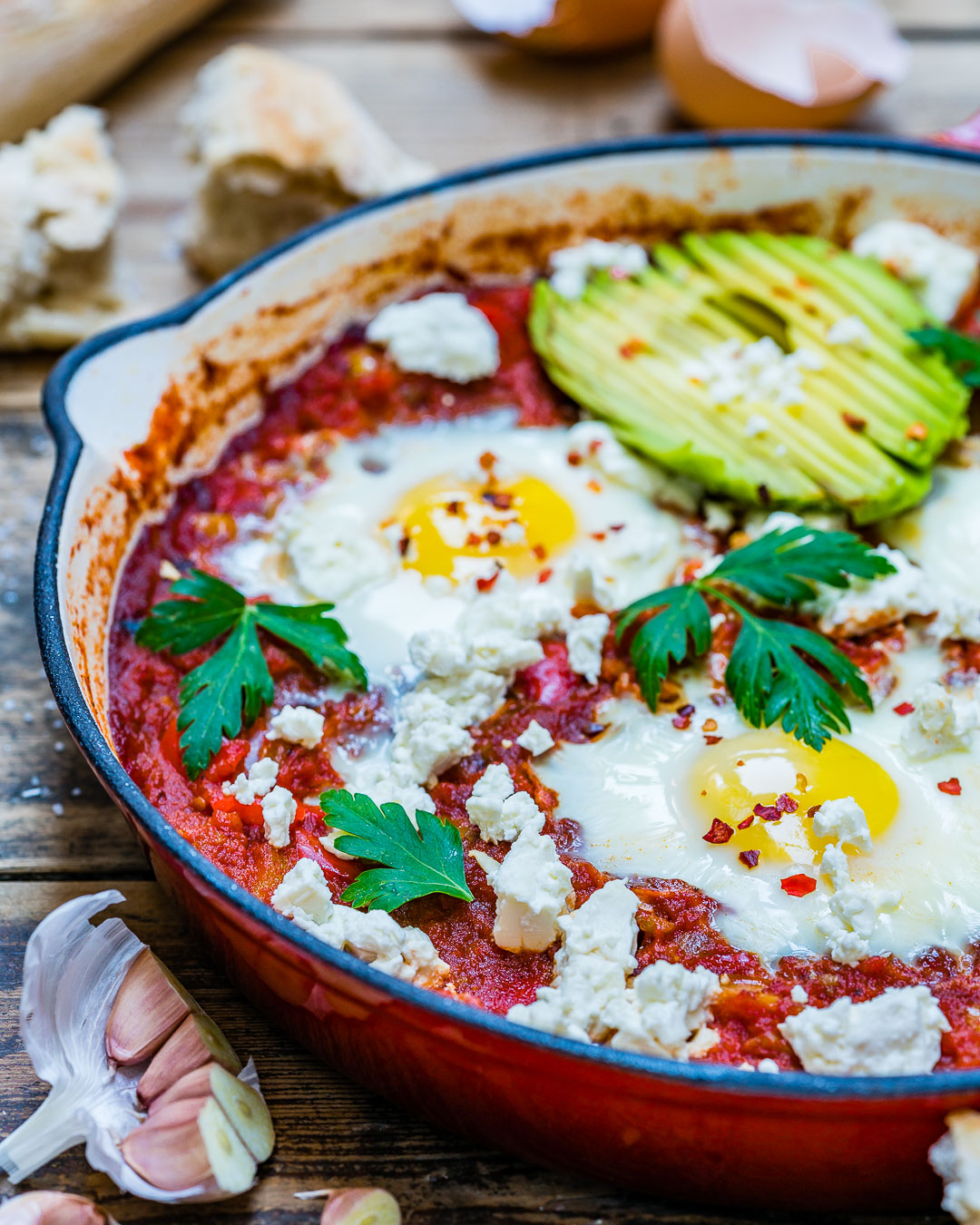 Easy Shakshuka Recipe aka Eggs In Tomato Sauce-12