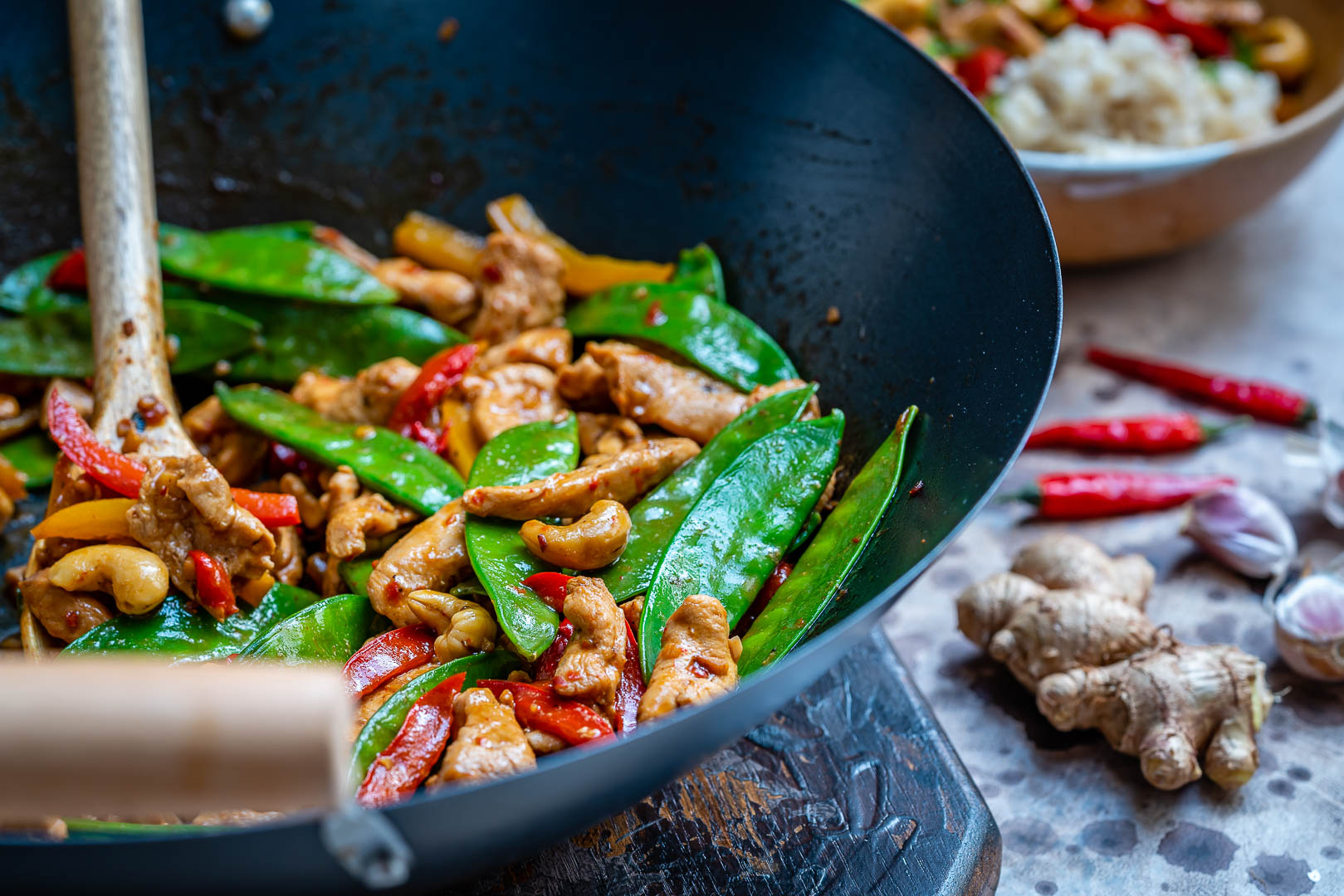 Easy Chicken Stir Fry Recipe (With Vegetables And Cashew)-11