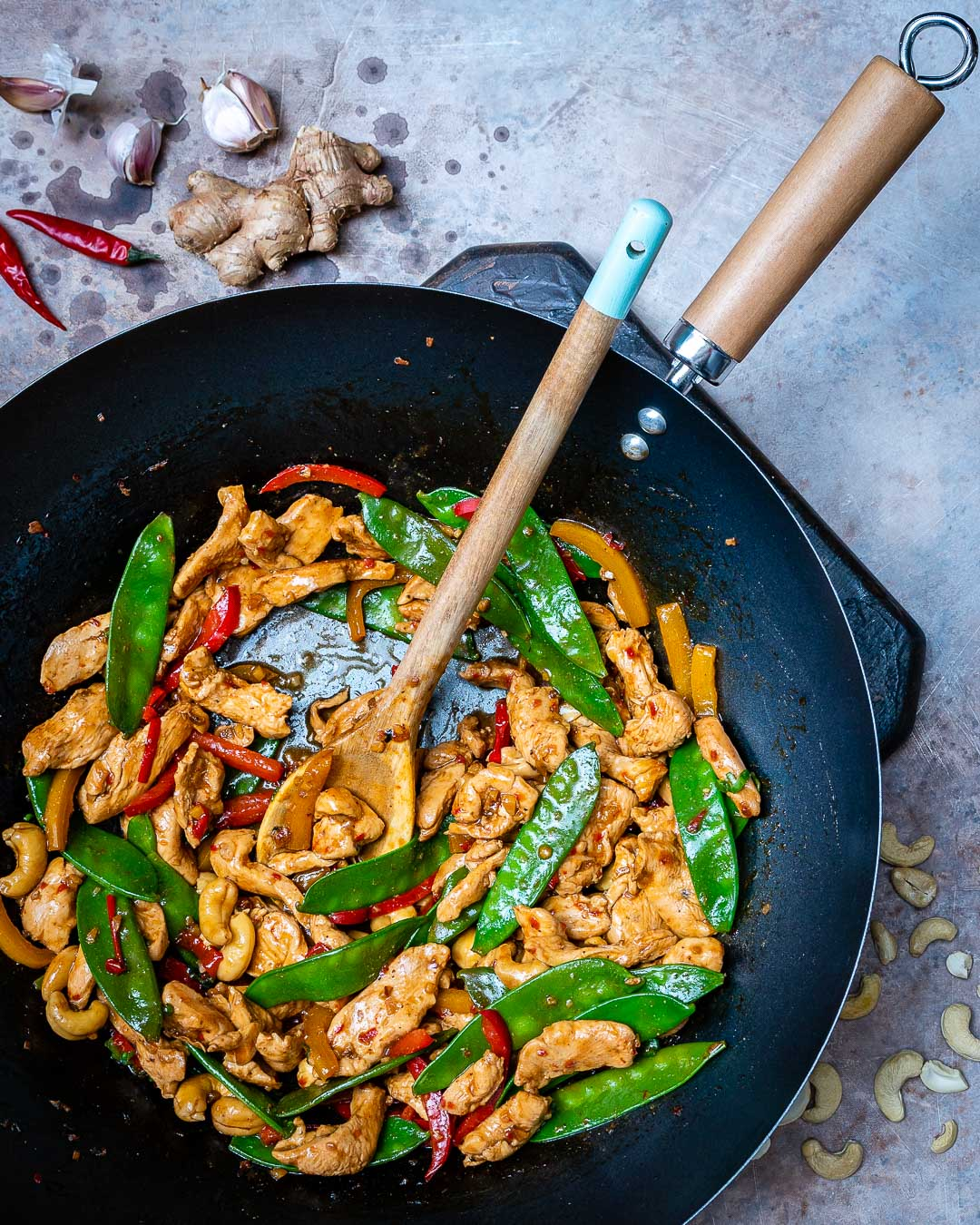 Easy Chicken Stir Fry Recipe (With Vegetables And Cashew)-2