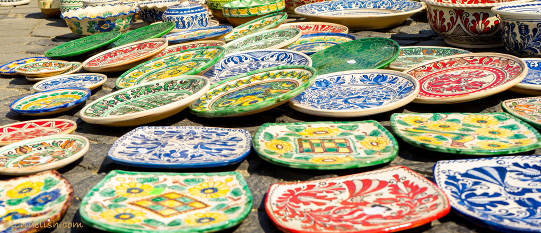 Traditional romanian pottery at Sibiu, Transylvania