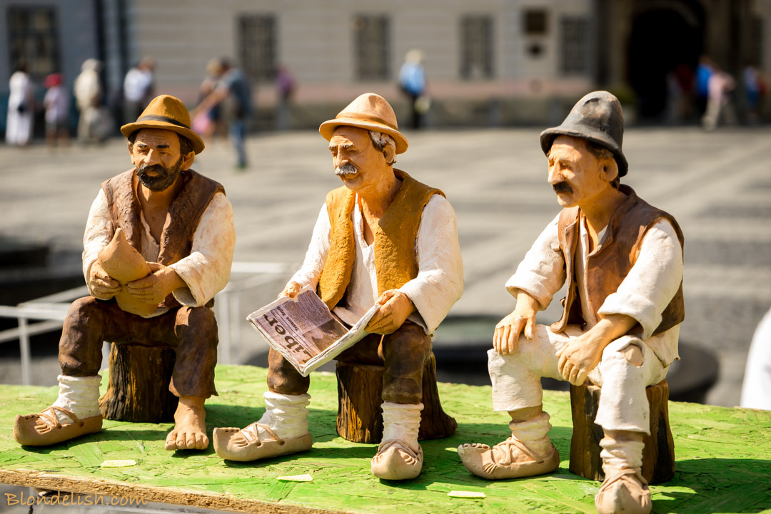 Clay figurines at The Pottery Festival in Sibiu, Transylvania, Travel