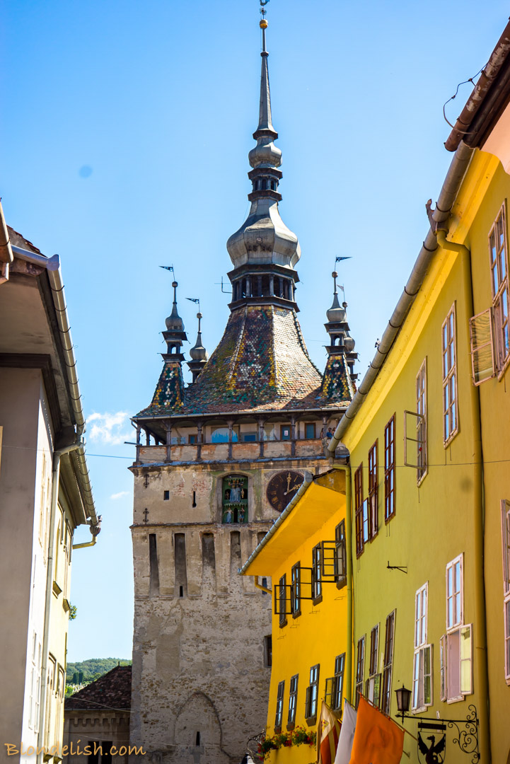 The Clock Tower in Sighisoara, Travel to Romania
