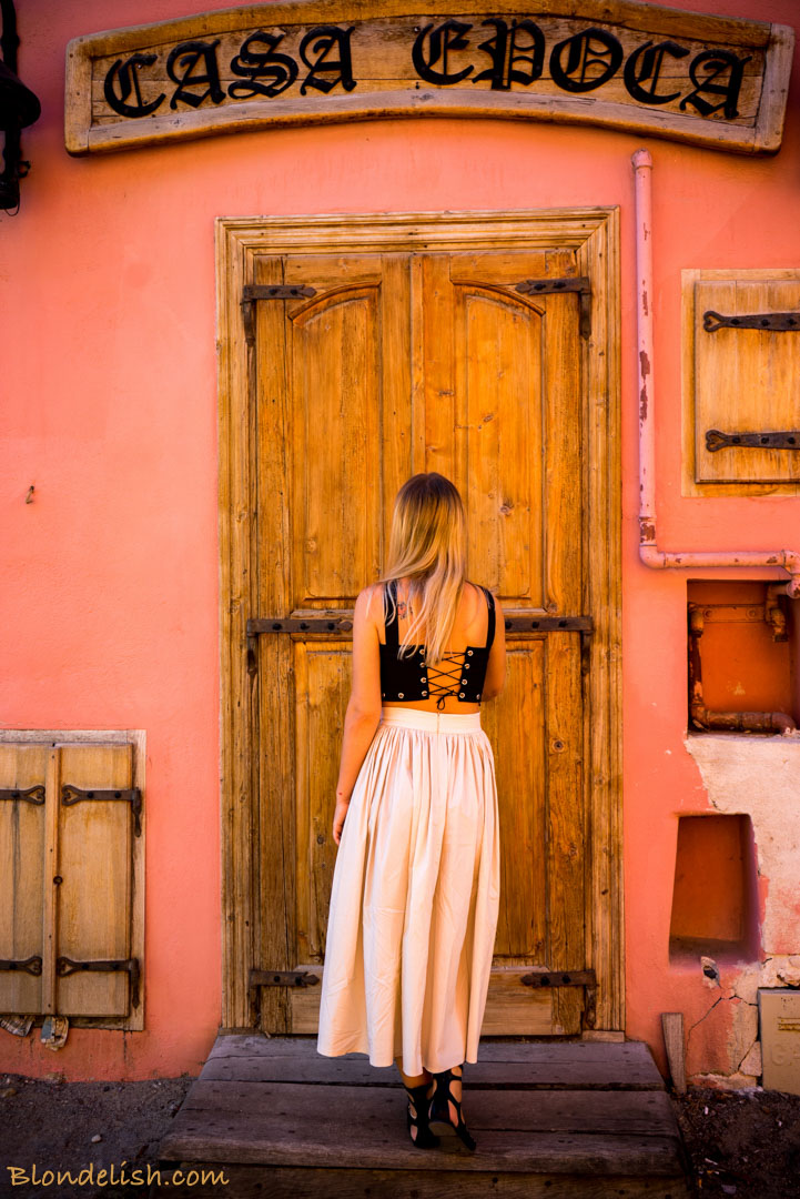 Blondelish in the medieval city of Transylvania, Sighisoara, Romania