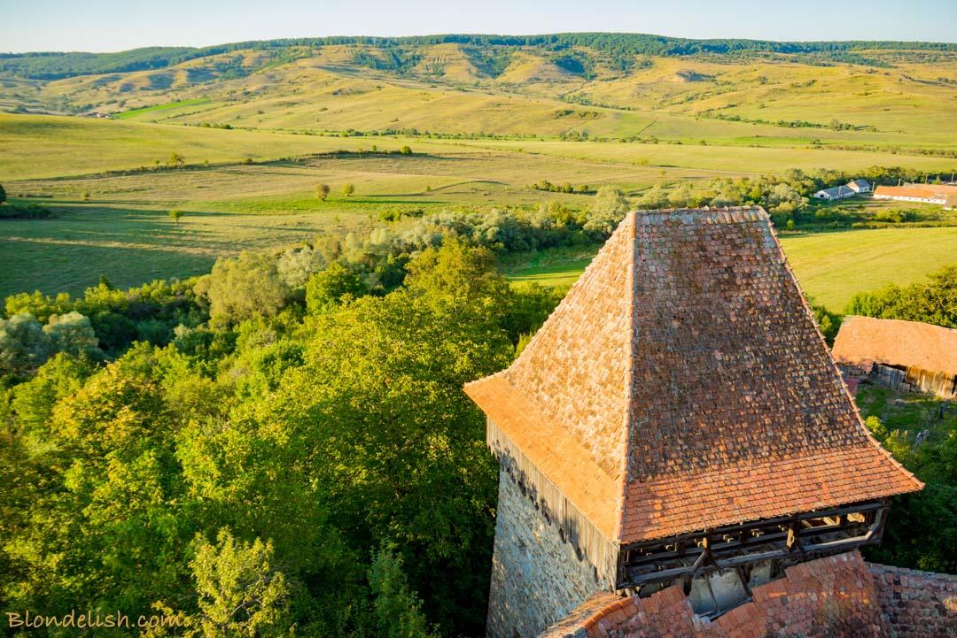 Hills of Viscri, Transylvania. Travel to Romania
