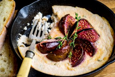 Baked ricotta with honey figs, recipe by Blondelish