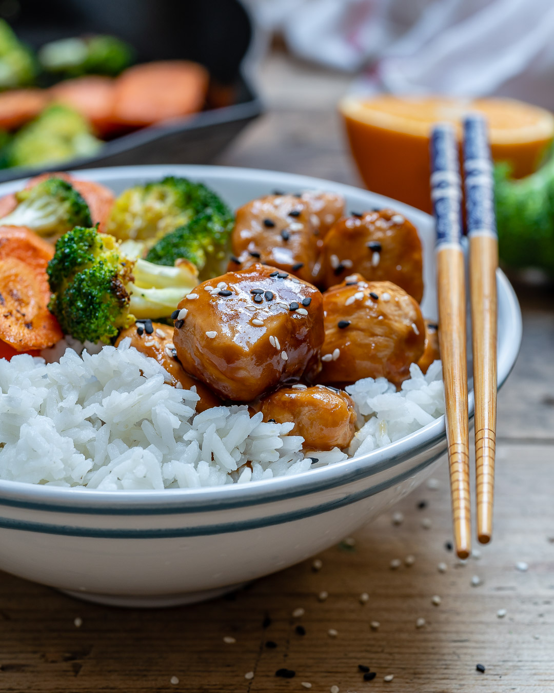 Easy Teriyaki Chicken With Rice And Vegetables Recipe-7