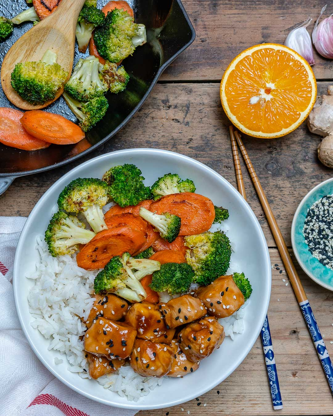 Easy Teriyaki Chicken With Rice And Vegetables Recipe