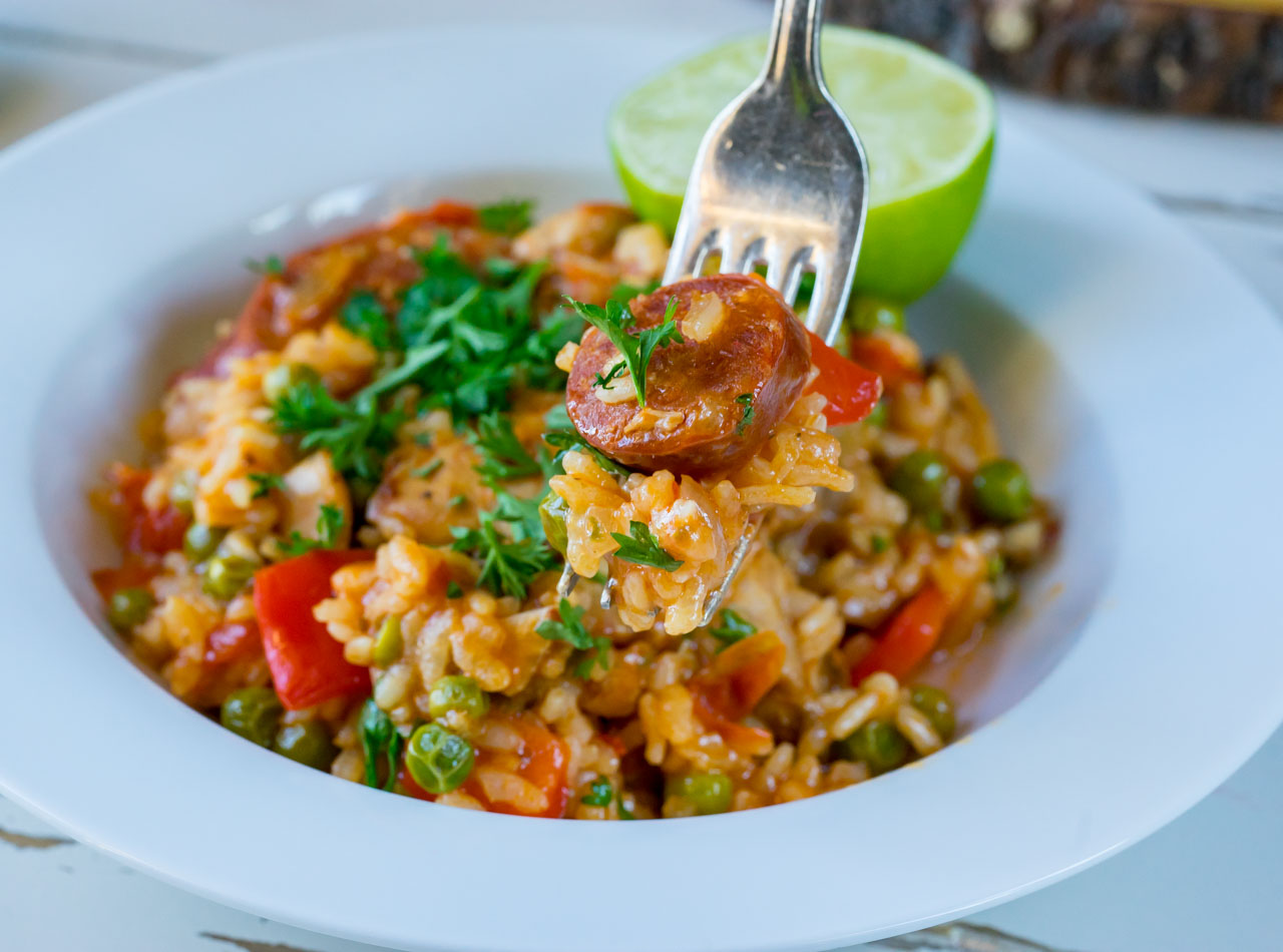 Chicken and chorizo paella-recipe