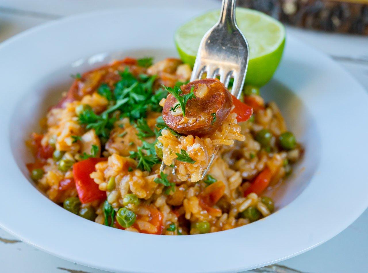 Chicken and chorizo paella-recipe