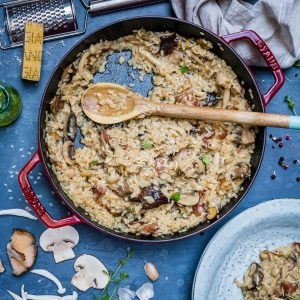 Creamy Bacon And Mushroom Risotto (Recipe Video)-10