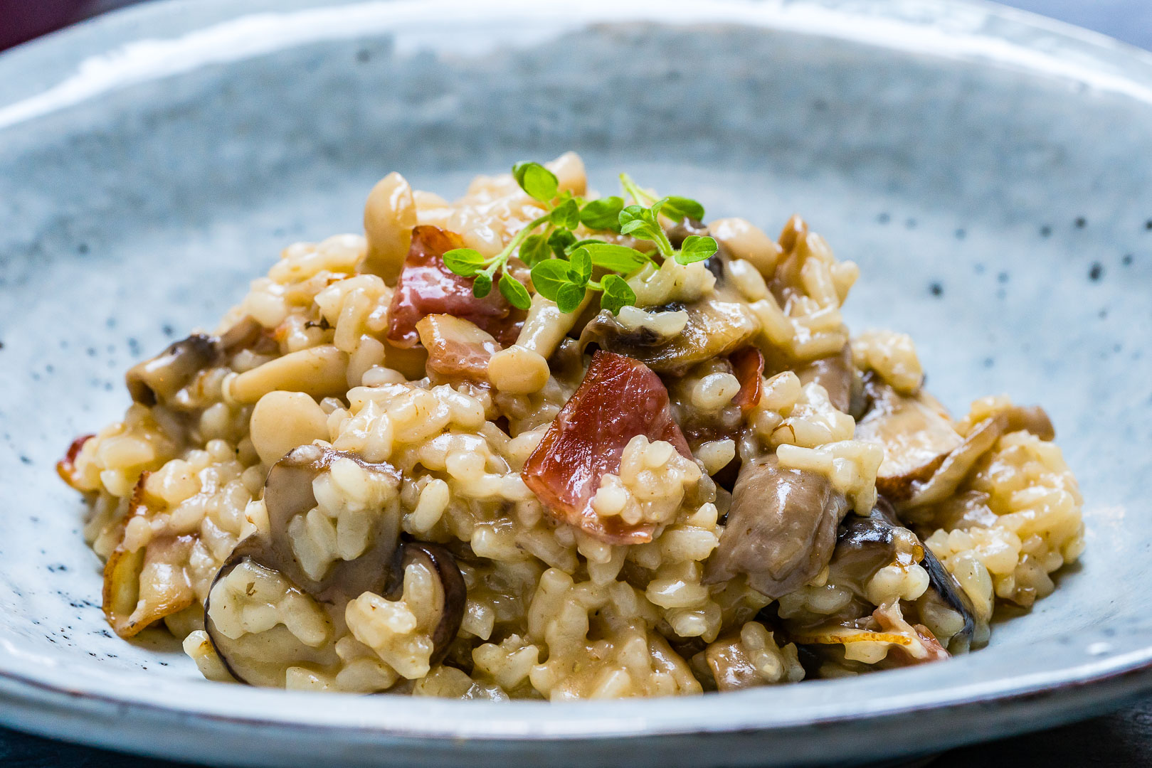 Creamy Bacon And Mushroom Risotto (Recipe Video)-6