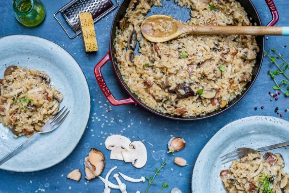 Creamy Bacon And Mushroom Risotto (Recipe Video)-8