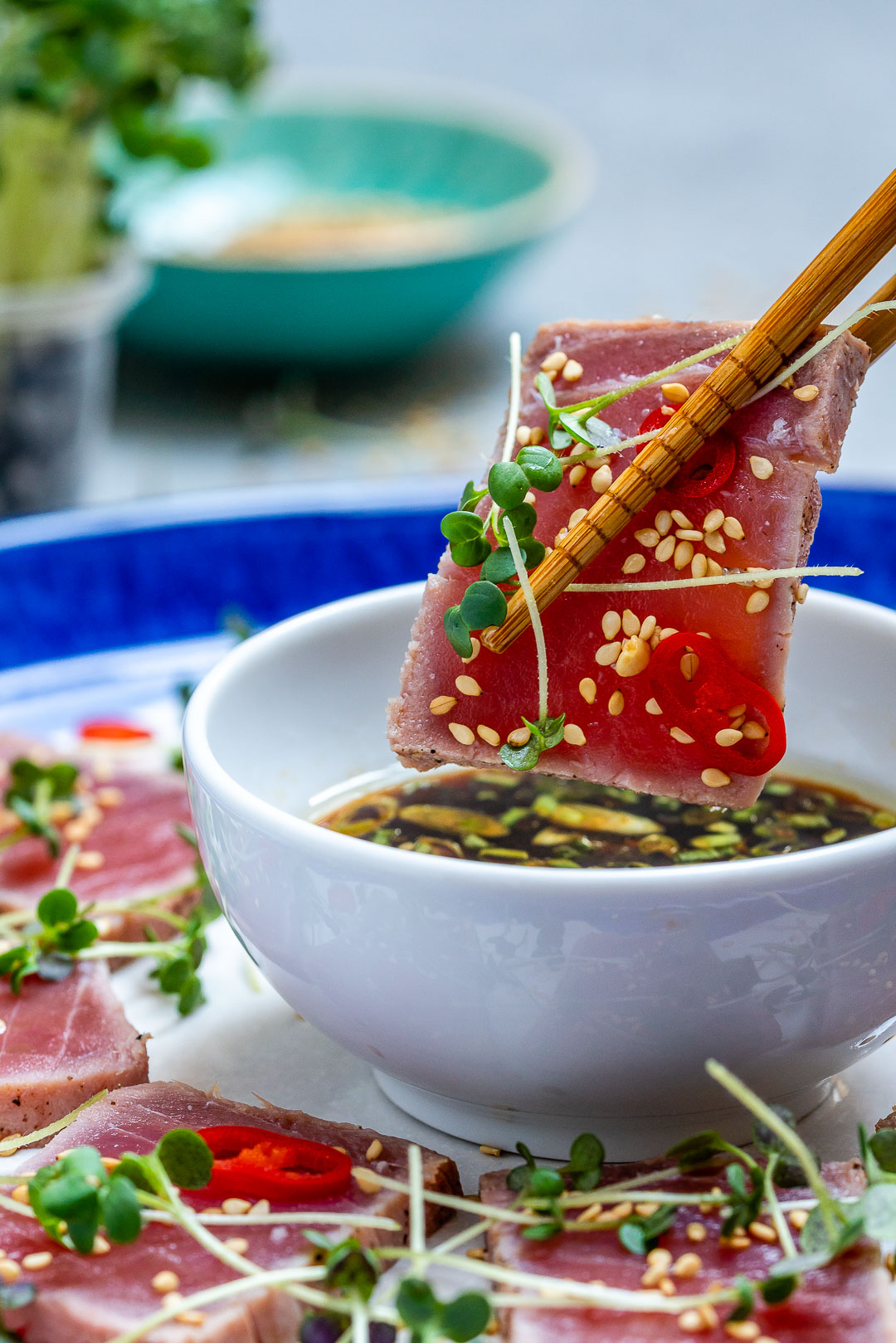 Seared Tuna Tataki Recipe (With Sesame And Soy Dressing)-3