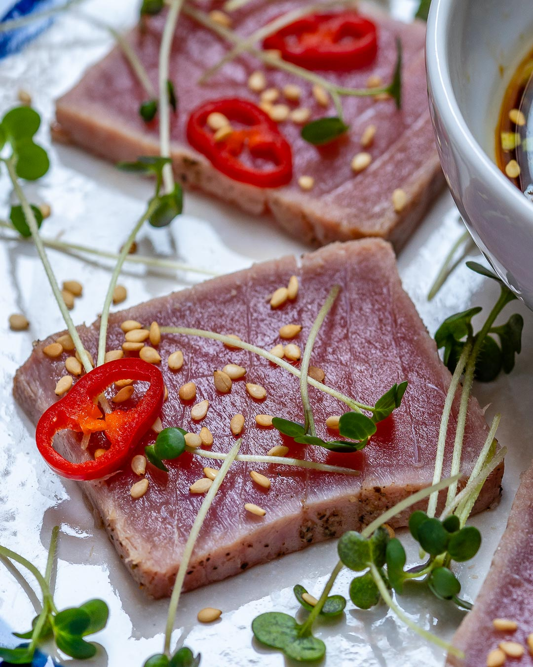 Seared Tuna Tataki Recipe (With Sesame And Soy Dressing)-5