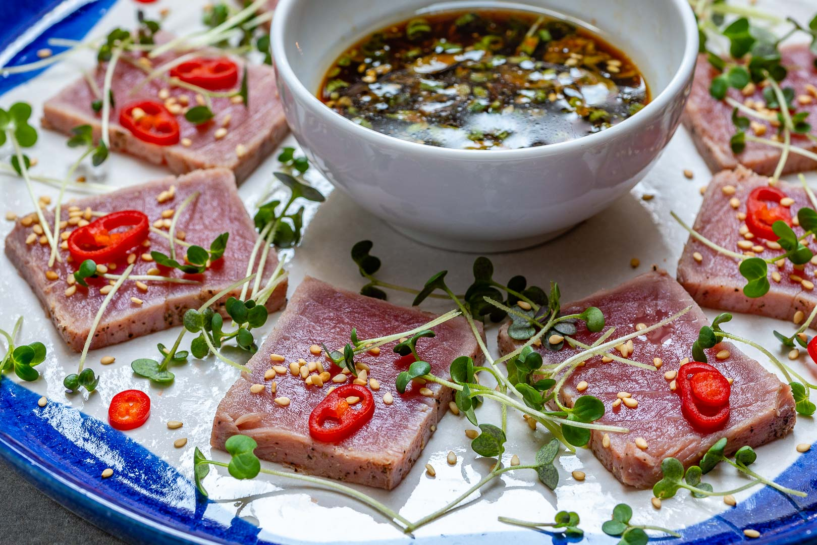 Seared Tuna Tataki Recipe (With Sesame And Soy Dressing)-8