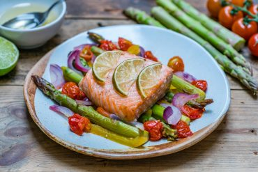 Easy Baked Salmon and Veggies Recipe - How to Cook Salmon In The Oven-4
