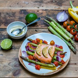 Easy Baked Salmon and Veggies Recipe - How to Cook Salmon In The Oven-5