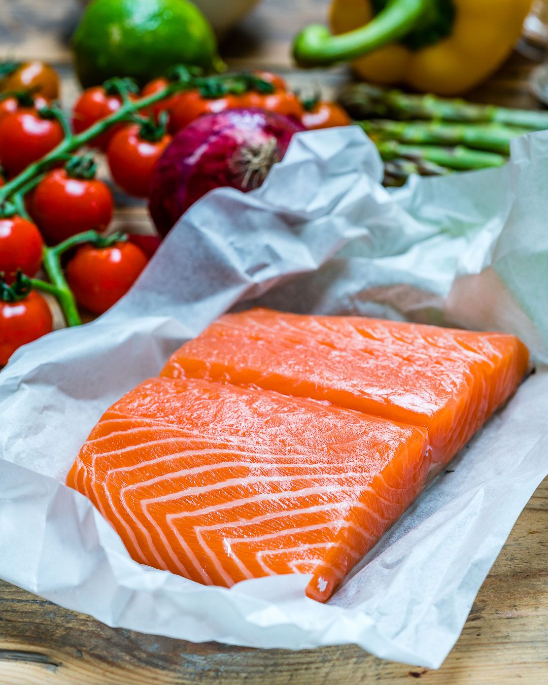 Easy Baked Salmon and Veggies Recipe - How to Cook Salmon In The Oven
