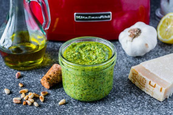 Homemade Basil Pesto Sauce Recipe 2