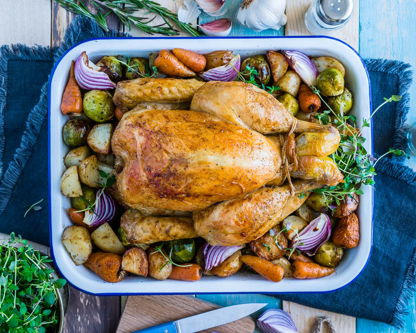 Whole Roasted Chicken And Veggies Recipe 3