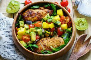 Chicken Salad with Mango Salsa Recipe