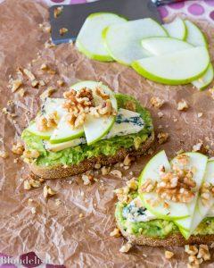 Avocado Toast with Gorgonzola, Apple, and Walnuts - Best Avocado Toast Recipes