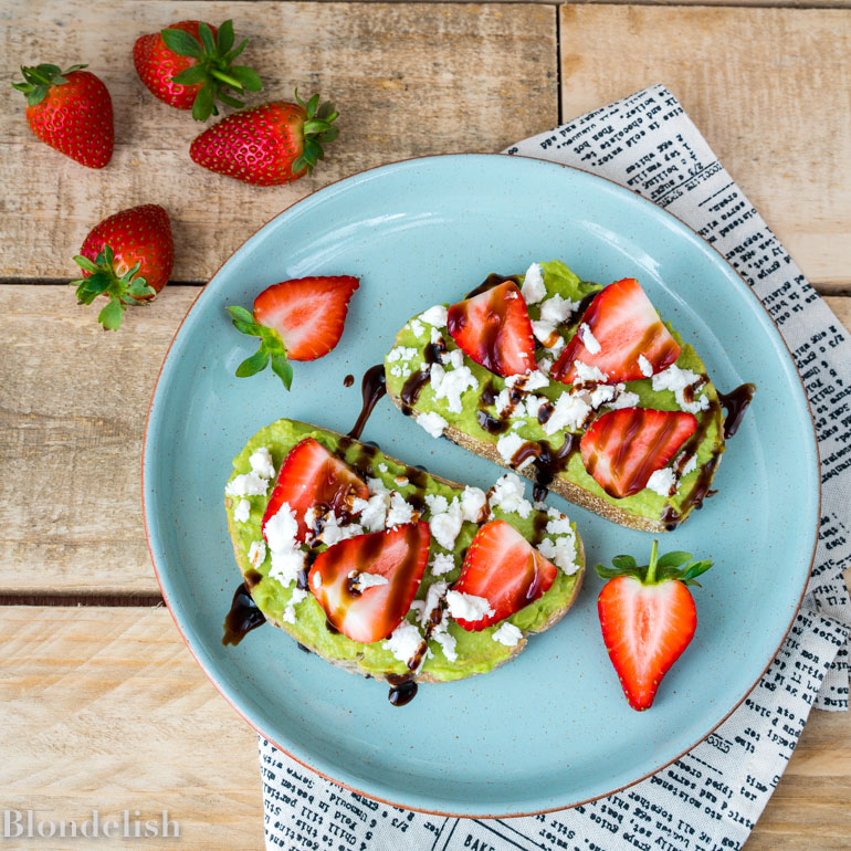 Avocado Toast with Goat Cheese and Strawberry - Best Avocado Toast Recipes