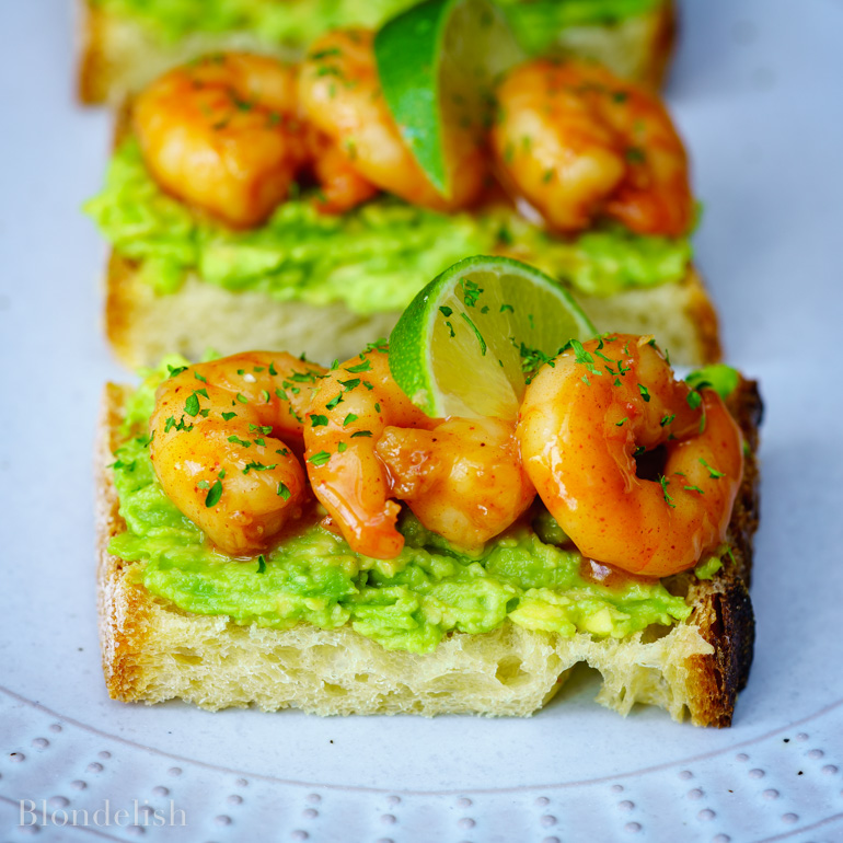 Garlic Shrimp Avocado Toast Recipe - Best Avocado Toast Recipes