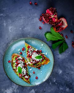 Avocado Toast with Pomegranate Salsa. Best Avocado Toast Recipes
