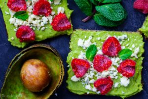 Raspberry and Cheese Avocado Toast Recipe - Best Avocado Toast Recipes