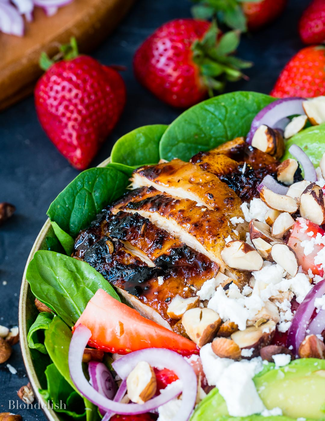 Best Strawberry and Avocado Chicken Salad Recipe 2 - How to make Chicken Salad