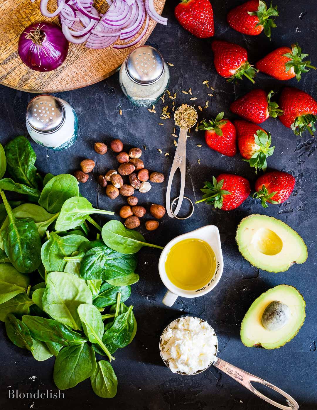 Best Strawberry and Avocado Chicken Salad Recipe - Chicken Salad Ingredients