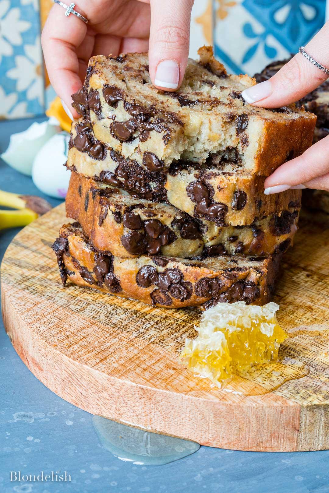 Reteta de Banana Bread - Chec cu Banane si ciocolata 7
