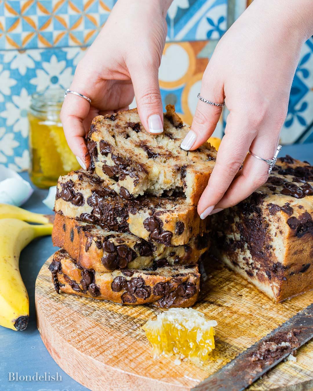 Reteta de Banana Bread - Chec cu Banane si ciocolata 8