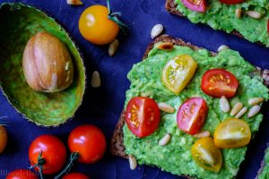 Cherry Tomatoes and Pinenuts Avocado Toast Recipe. Best Avocado Toast Recipes