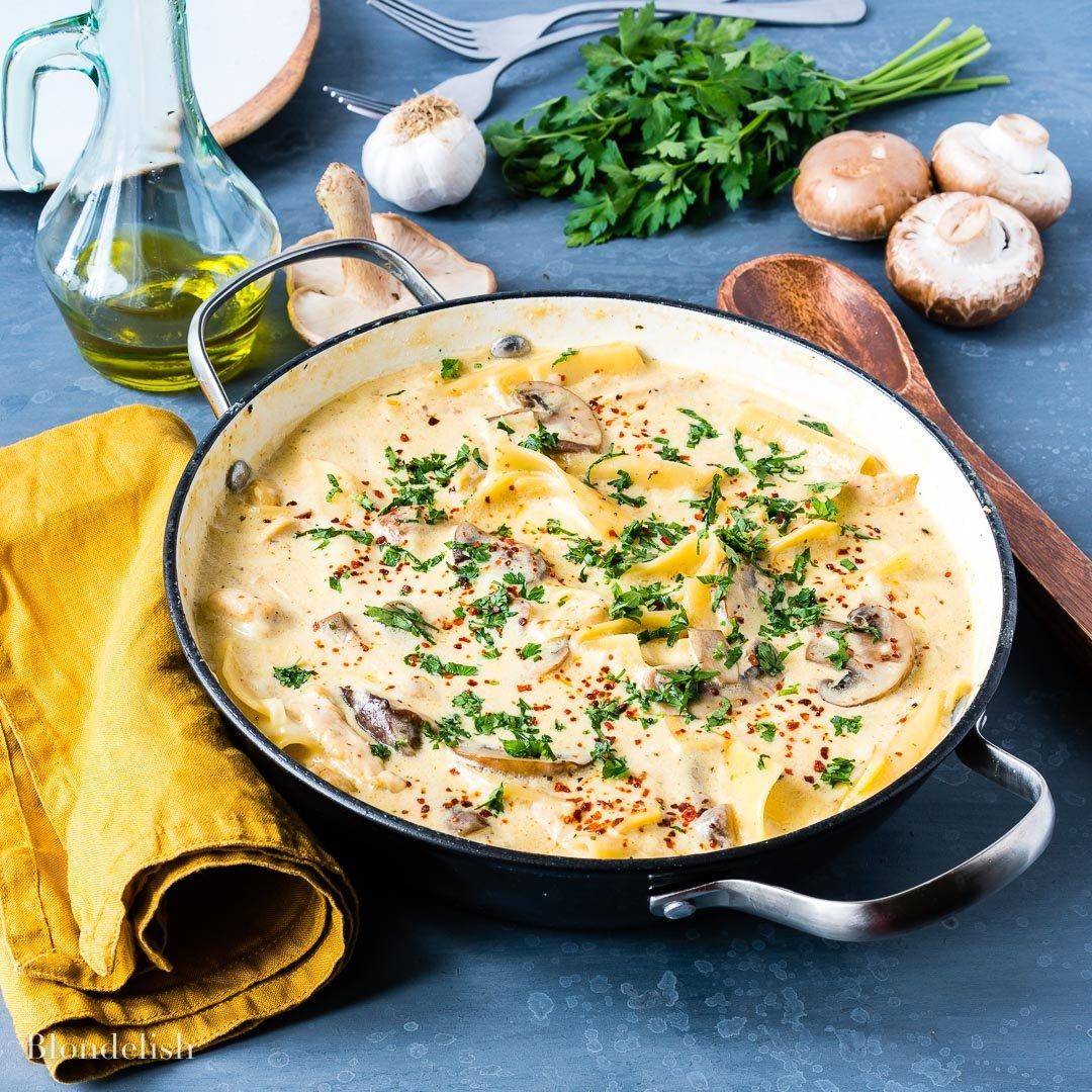 Reteta de Lasagna cu pui si ciuperci 6