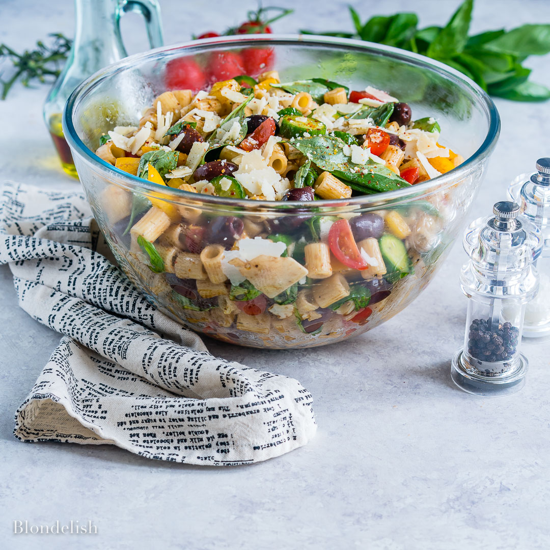 Healthy and Easy Mediterranean Pasta Salad Recipe 7