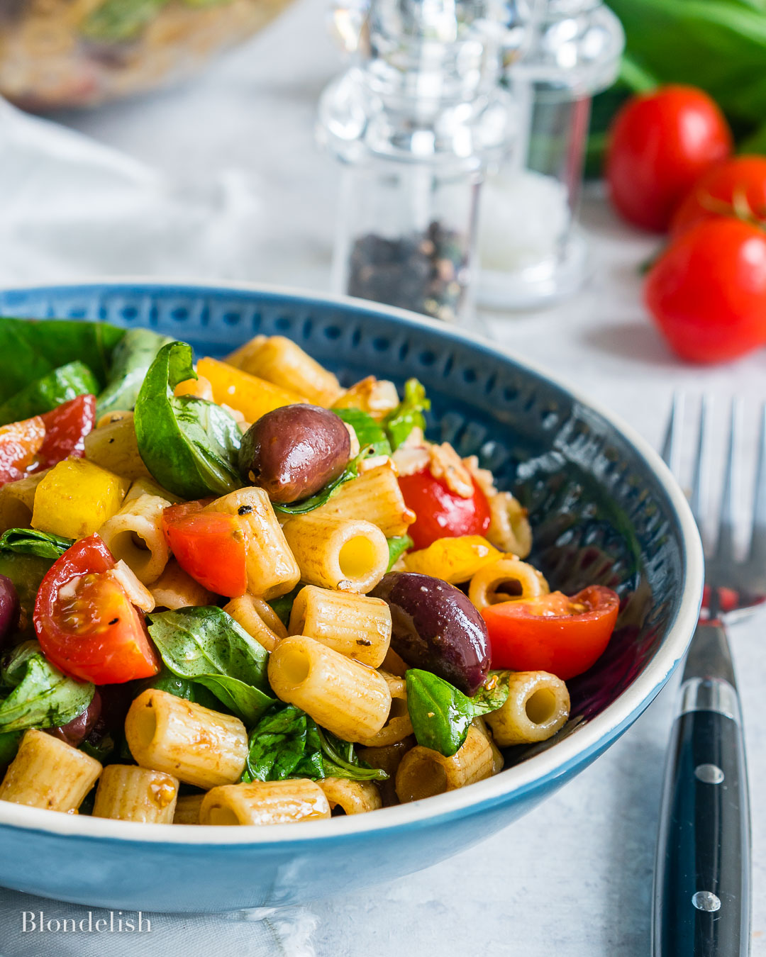 Healthy and Easy Mediterranean Pasta Salad Recipe 13