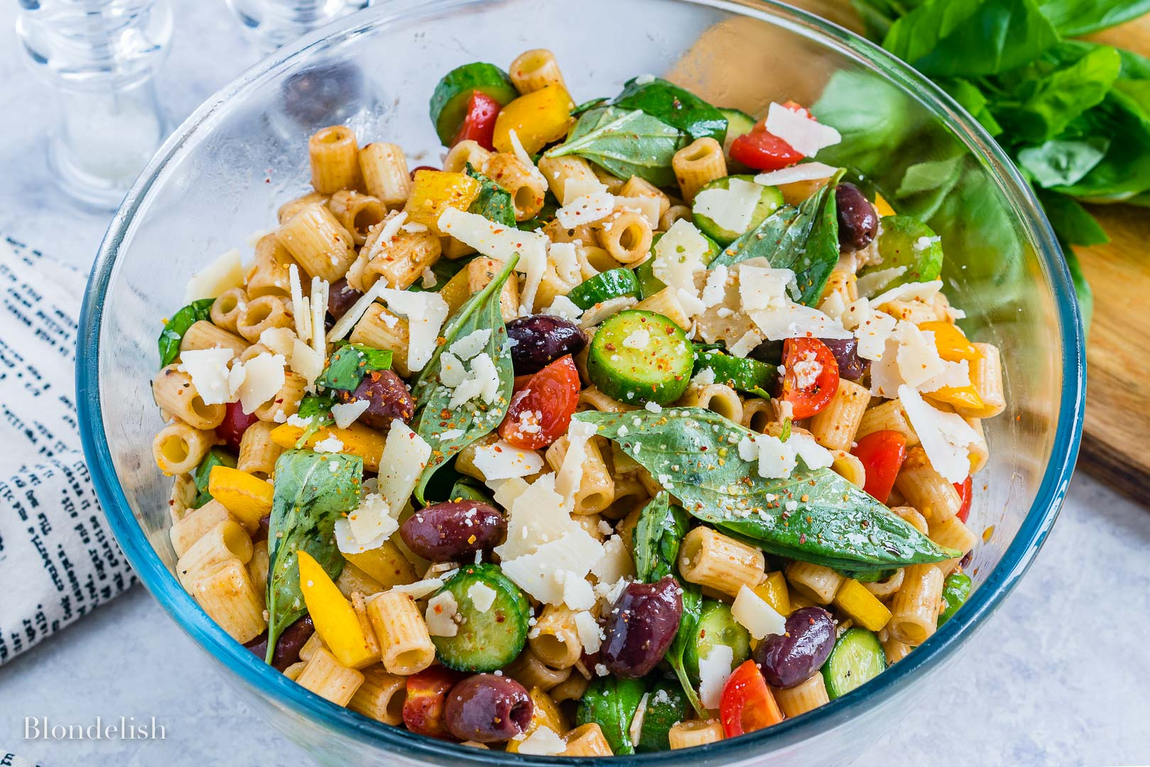 Healthy and Easy Mediterranean Pasta Salad Recipe 5
