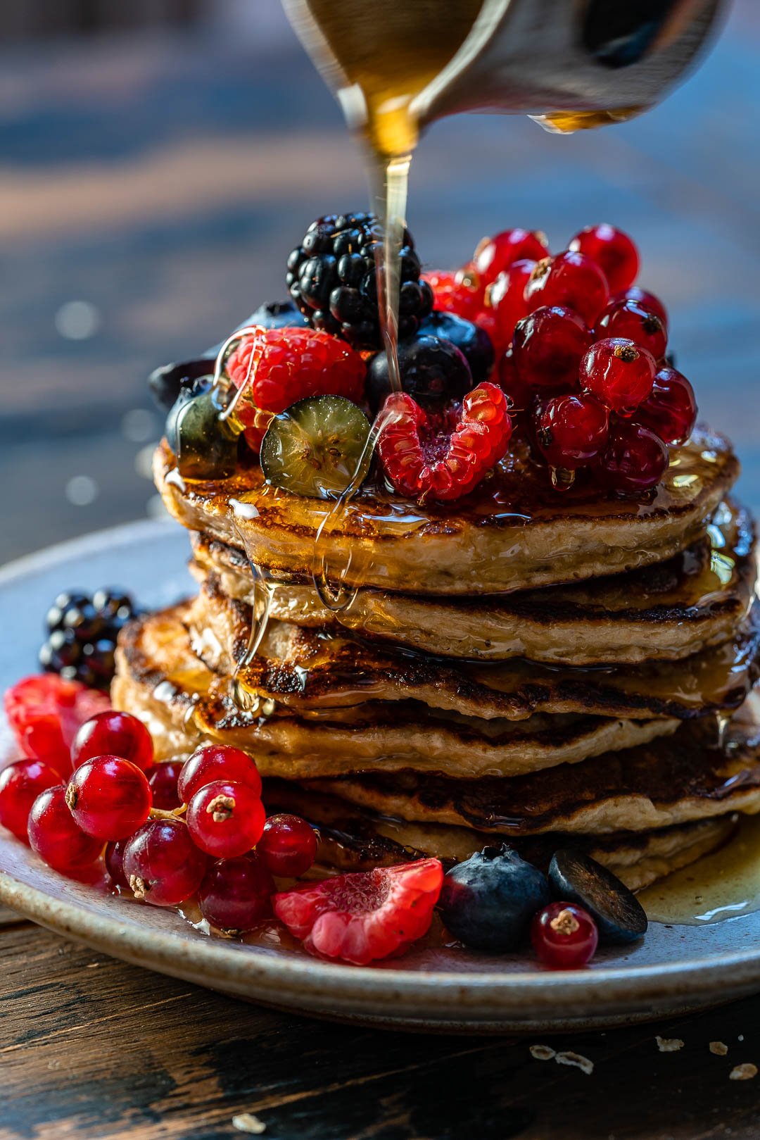 Banana Oatmeal Pancakes Recipe-20