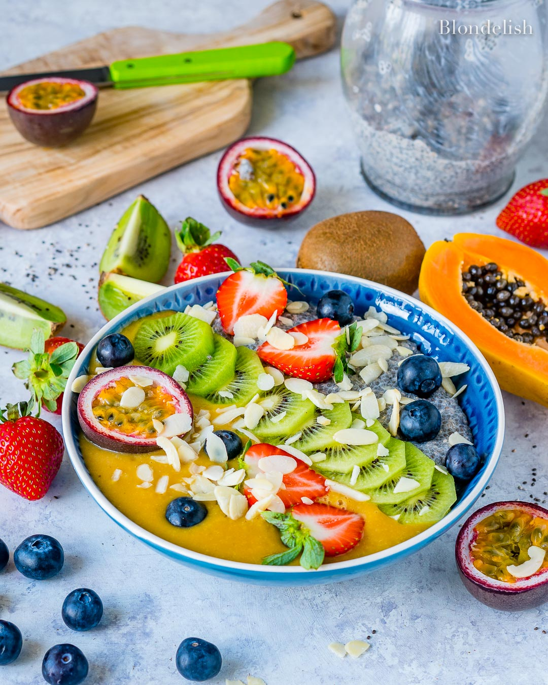 Budinca cu Seminte de Chia si Fructe 8