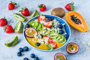 Budinca cu Seminte de Chia si Fructe 1