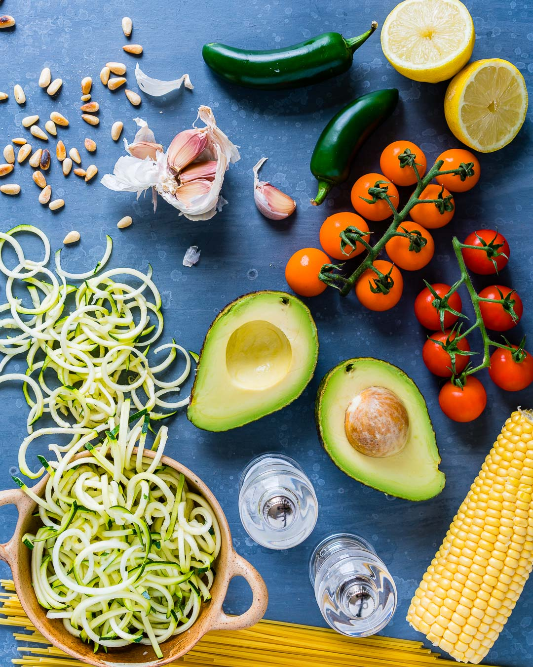 Zucchini Noodles Pasta Recipe with Pesto and Grilled Corn 20