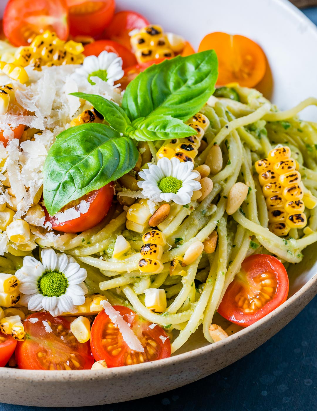 Zucchini Noodles Pasta Recipe With Pesto And Grilled Corn
