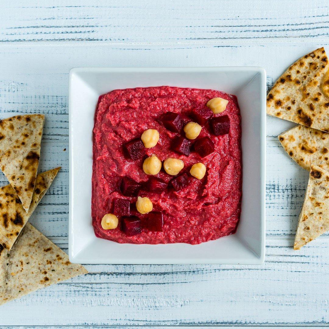 4 Retete de Hummus - Reteta de Hummus cu Sfecla Rosie
