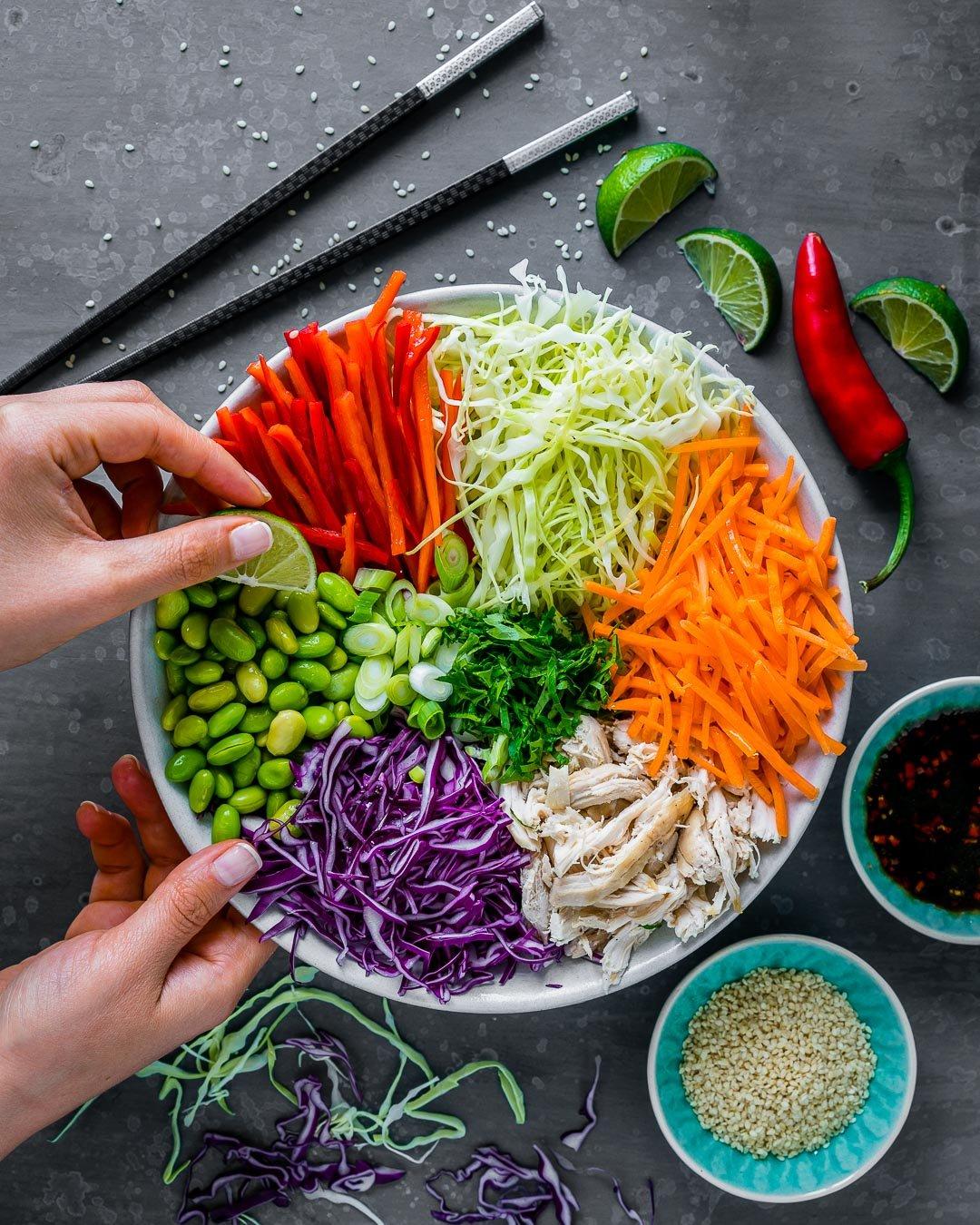 Salata Thailandeza de Pui si Legume 2