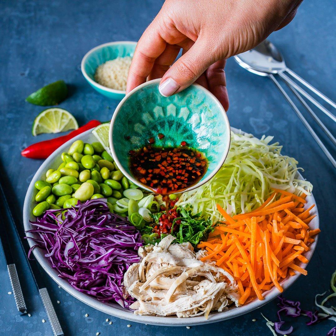 Salata Thailandeza de Pui si Legume 8